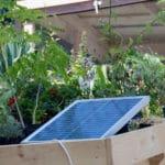 Solarzelle auf dem Balkon