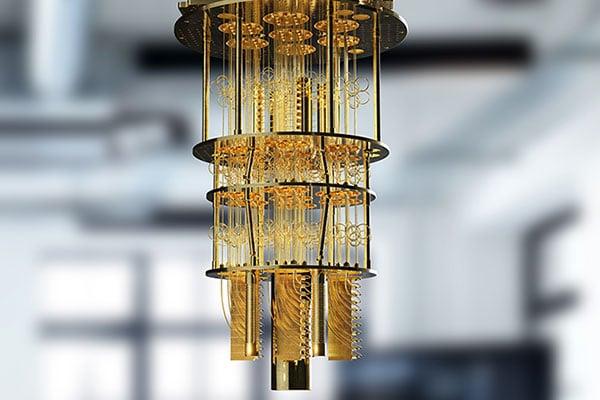 Foto: Quantencomputer hängt von der Decke